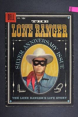 The LONE RANGER 118 Vintage Western Dell Comic Book 1958 Silver Anniversary A124