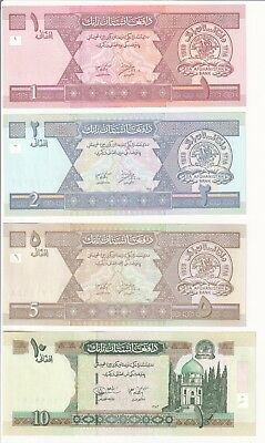 Lot of 4 Afghanistan Banknotes