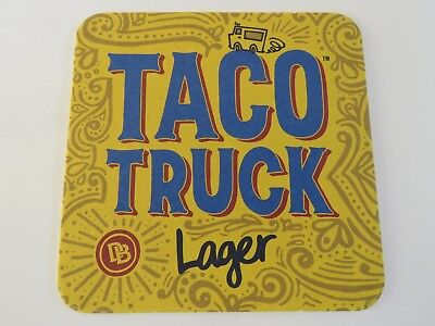 Beer Coaster ~*~ DUST BOWL Brewing Co Taco Truck Lager ~*~ Turlock, CALIFORNIA