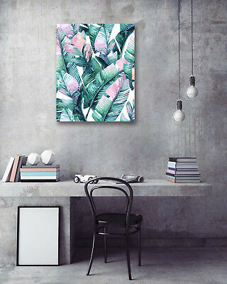 Modern Art Poster-Colored Banana Leaves Prints Wall Room Decor Canvas Painting
