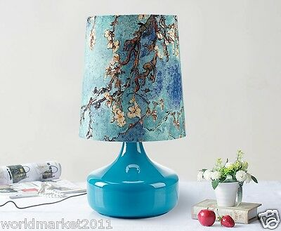 New European Style 1*Light Contracted Fashion Blue Decoration Glass Table Lamp