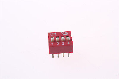 1pcs DIP Switch 8 Pins 4 Positions Sliding Switches 2.54mm Pitch