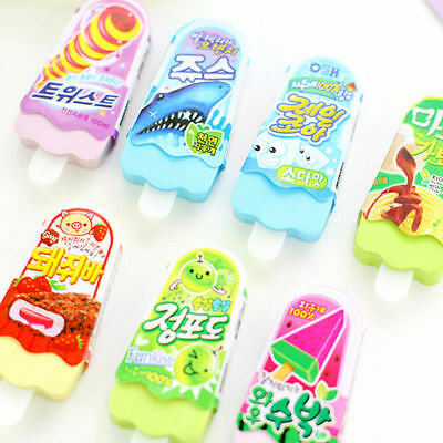 Funny Cute Ice Cream Pencil Eraser Rubber Novelty Toy For School Children Kids