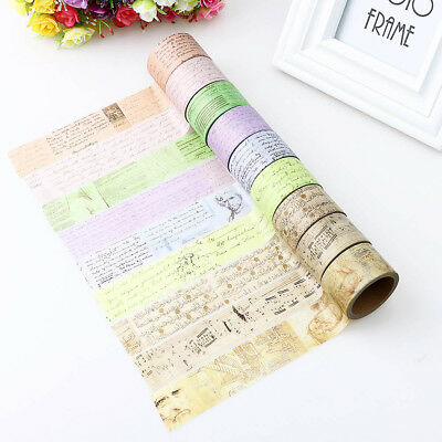 30mm coast creative vintage / back vinci manuscript gothic artwork washi tape