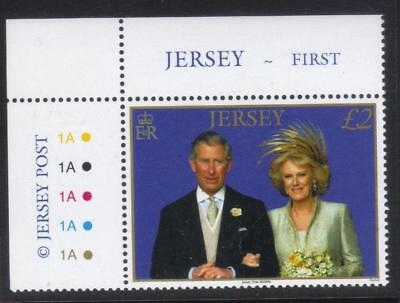 Jersey 2006 First Wedding Anniv Of Prince Charles + Duchess Of Cornwall Mnh