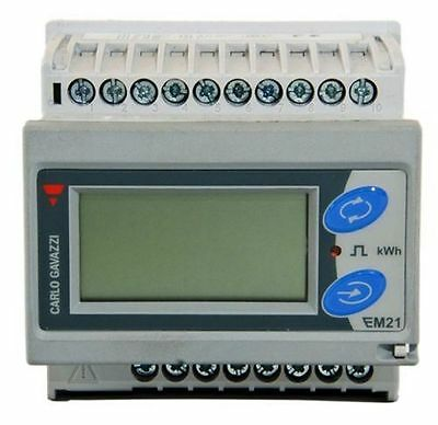 Carlo Gavazzi 3 Phase kWh Digital Electric Energy Meter EM21 72DAV5 LCD DIN Rail