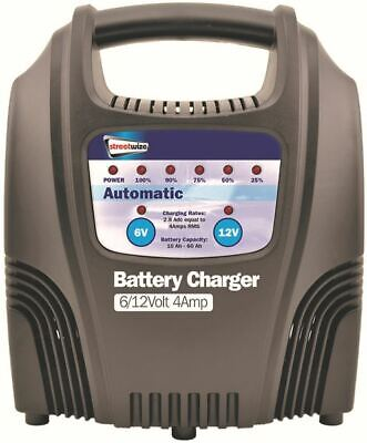 Streetwize Fully Automatic Battery Trickle Charger 6/12Volt 6Amp Car Motorcycle