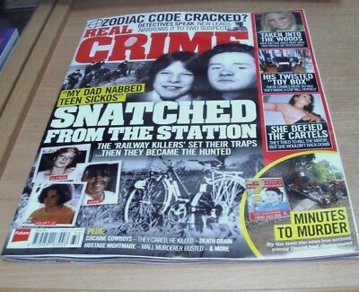 Real Crime magazine #32 2017 Snatched from the Station, Zodiac Code Cracked &
