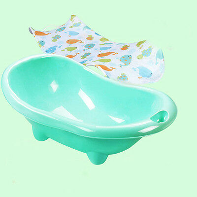 New Green Infant Baby Kids Comfortable Sitting Or lying Safety Durable Bath Tub.
