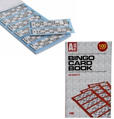 600 Bingo Cards 100 Sheets Flyer Book Tickets Pads Security Coded Jumbo Booklet