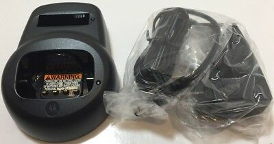 Motorola HCTN4001A 2-Way Radio Dock Charger w/Power Supply for CLS1110/CLS1410
