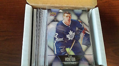 2016-17 Ud Tim Hortons Base Set #1-100 + 7 Cl's + Pure Gold + Gda Canada Only