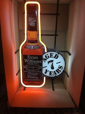 Vintage Rare Evan Williams Whiskey Neon Sign New In Box  Works