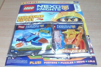 Lego Nexo Knights magazine #21 2017 +  Limited Edition  Merlock 2.0 Mini Figure
