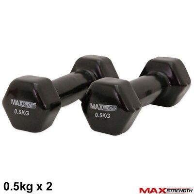 Vinyl Weights Hand Dumbells Home Gym Fitness Aerobic Ladies Men Gym Exercise