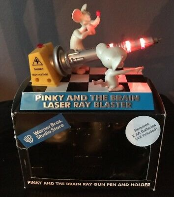Collectible Wb Warner Bros. Pinky And The Brain Laser Ray Blaster Ink Pen Holder