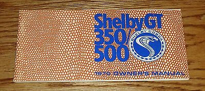 1970 Ford Shelby Cobra GT 350 GT 500 Owners Operators Manual 70