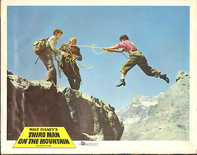 THIRD MAN ON THE MOUNTAIN orig DISNEY lobby card poster MATTERHORN SWITZERLAND
