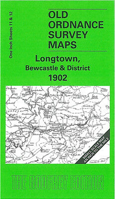 Old Ordnance Survey Map Longtown Bewcastle 1902 Thirlwall Common Solport Trough