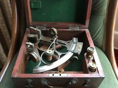 Victorian C - Ring Sextant By Phillips &Curtis,Hull. In original mahogany case