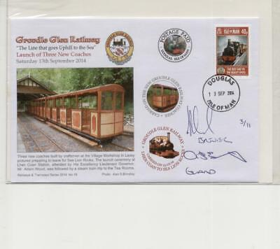 Isle of Man 2014 Signed & Carried Groudle Glen Railway Cover, No 3 of 11