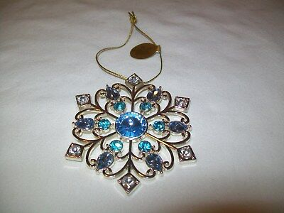 Stunning Danbury Mint the dazzling Crystals SnowFlake Christmas Ornament NEW