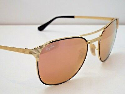 8970508807c Authentic Ray-Ban RB 3429M 9000 Z2 Black Gold CopperFlash Signet Sunglasses   245