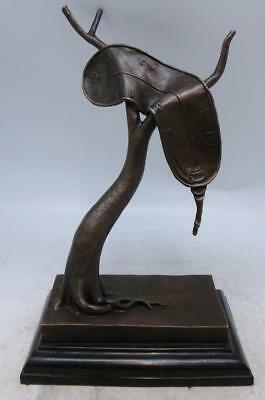 Surrealist Bronze 'The Persistence of Memory' by Salvador Dali - Melting Clock