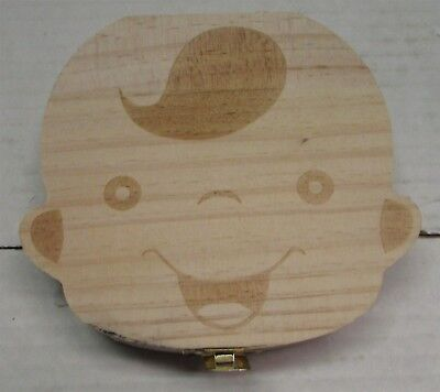 Wooden Baby Tooth Keepsake Box (Boy)