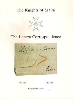 Book MALTA The Knights of Malta THE LAZARA CORRESPONDENCE by Robson Lowe