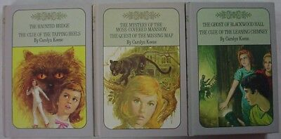 Nancy Drew Twin Thrillers 3 LOT Lavender covers #15, 16, 18, 19, 25, & 26 Keene