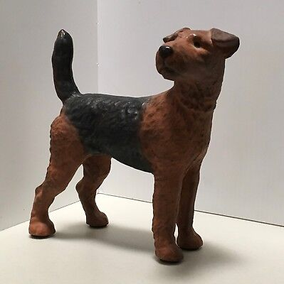 Airedale Welsh  Colored Caste Iron Doorstop