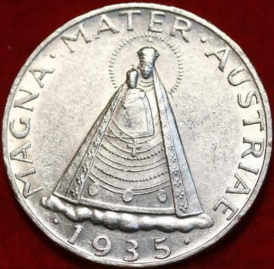 1935 Austria 5 Schillings Silver Foreign Coin Free S/H