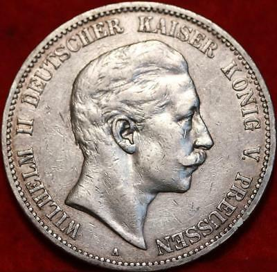 1903 Germany 5 Marks Silver Foreign Coin Free S/H