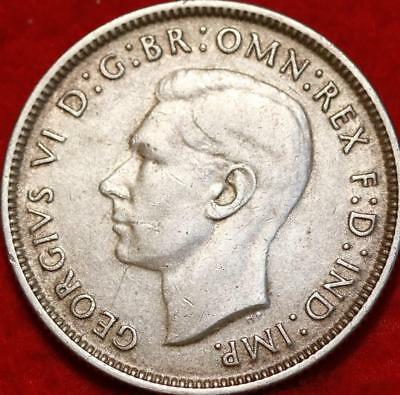 1944 Australia Florin Silver Foreign Coin Free S/H