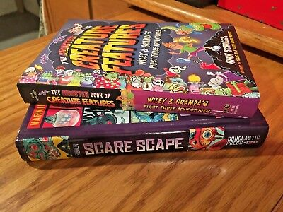 Monster Book of Creature Features Wiley & Grampa's 1st 3 Adventures & ScareScape