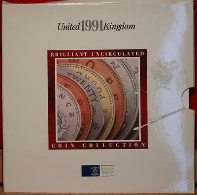 Uncirculated 1991 United Kingdom Coin Collection Free S/H