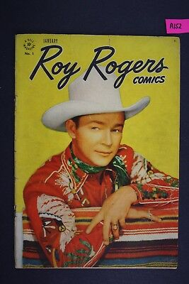 ROY ROGERS, #1 FIRST ISSUE Vintage Dell Western Comic Book 1948 A152