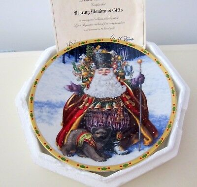 Lenox Bearing Wondrous Gifts The Magic Of Christmas Plate Collection