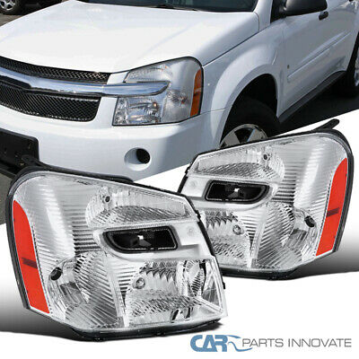 05-09 Chevy Equinox Clear Headlights Head Lights Corner Signal Lamps Left+Right