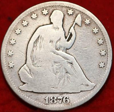 1876-CC Carson City Mint Silver Seated Half Dollar Free Shipping