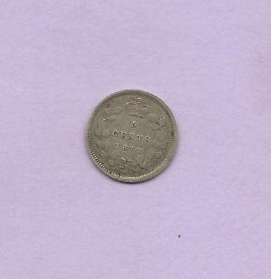 Canada 1872H Silver 5 Cents