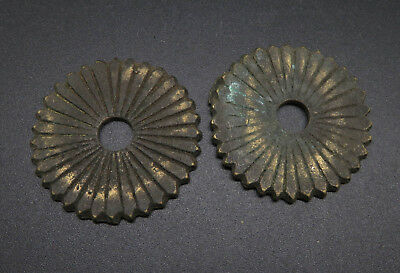 2pc Old Bronze Wheel Rings