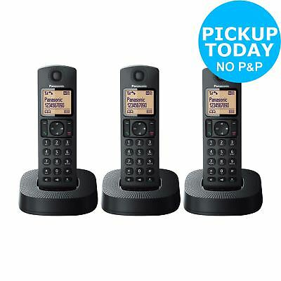 Panasonic Cordless Telephone with Answer Machine - Triple - Black