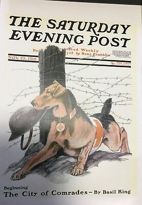 Nov. 23, 1918 Print Of An Airedale On The Cover Of The Saturday Evening Post