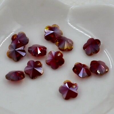 12pcs Swaro 8mm plum blossom shape Crystal bead D Hyaline red