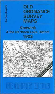 Old Ordnance Survey Map Keswick Northern Lake District 1903 Buttermere Ullswater