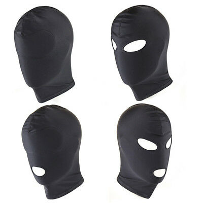Spandex Padded Blindfold Eye Face Mask Open Mouth Hood Head Opening Facemask HOT