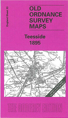 Old Ordnance Survey Map Teeside Darlington Middlesbrough Stockton On Tees 1895