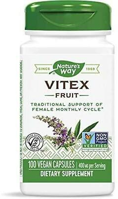 Vitex Extract, 400mg x 100VCaps, Natures Way, 24Hr Dispatch